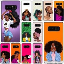 Coque de téléphone souple pour fille beauté africaine pour Galaxy M10 M20 M30 S6 S7 Edge S8 S9 S10 S10e Plus Note 10 8 9
