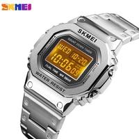 SKMEI Luxury Sports Men's Watch Fashion Digital Waterpoof Alarm Clock Chronograph Stainless Steel Wristwatch Relogio Masculino