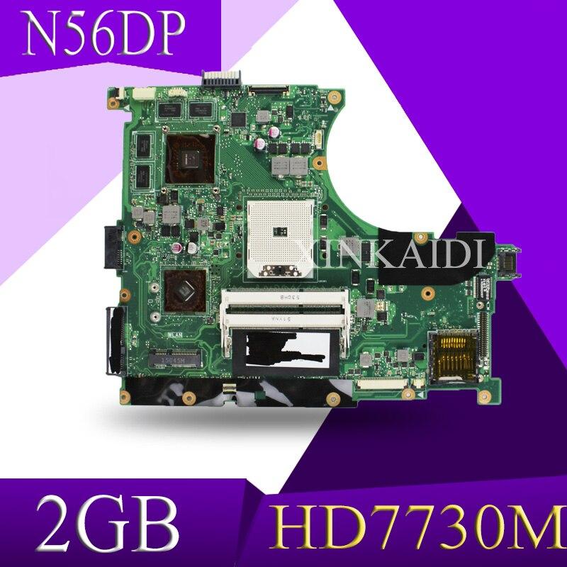 Xinkaidi n56dp placa-mãe do portátil hd7730 2gb para n56dp n56d teste mainboard placa-mãe 60-nqomb1002-c03