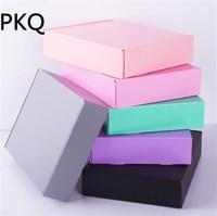 15*15*5cm Large Kraft paper gift packaging box,cardboard wedding gift candy box pink/blue/green/gray craft paper gift box
