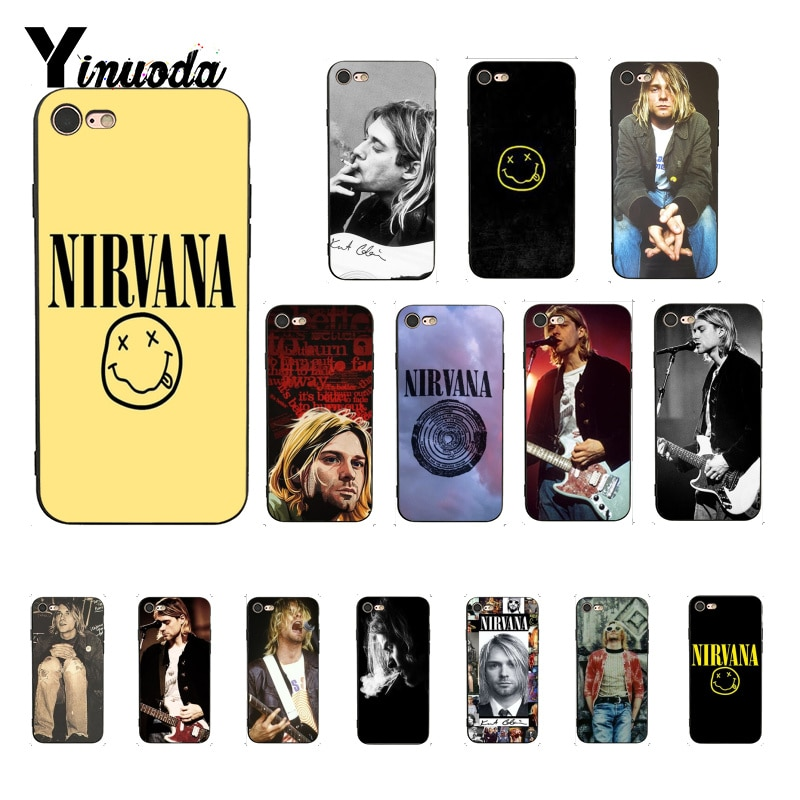 Yinuoda Nirvana Kurt Cobain роскошный уникальный дизайн PhoneCase для iPhone 8 7 6 6S 6Plus X XS MAX 5 5S SE XR 10 Чехол