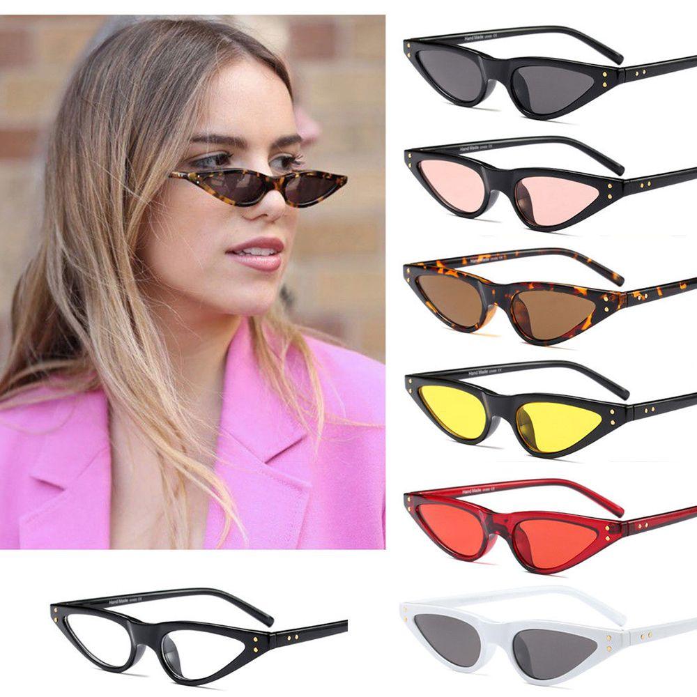 2019 Cat Eye Sonnenbrille Frauen Kleine Dreieck Brillen Vintage Stilvolle Cateye Sonnenbrille Weibliche UV400 Gläser freies verschiffen