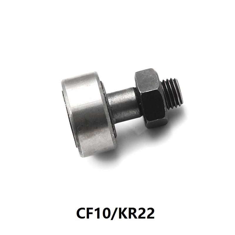 100 unids/lote CF10/KR22 Cam follower rodillos de oruga tipo perno RODAMIENTOS DE AGUJAS KRV22