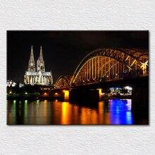 Peintures en toile imprimés   Peintures attractions touristiques, photos de koln dom Cologne, allemagne, repère de ville, bâtiments cathédrale catholique