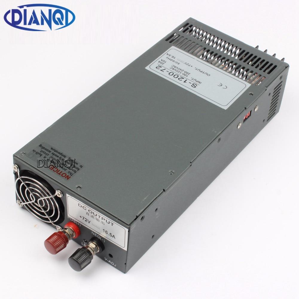 DIANQI Switching power supply 1200W 72V 13.5V 24V 90V 36V POWER SUPPLY  for LED Strip light AC to DC power suply input 110v 220v