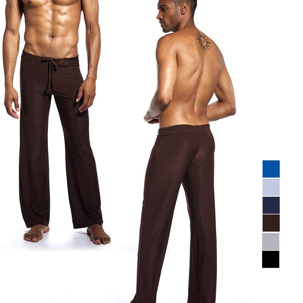 Pantalones de marca para hombre pantalones de pijama de danza Harem pantalones de chándal para dormir pantalones casuales pantalones de salón suaves pantalones de seda