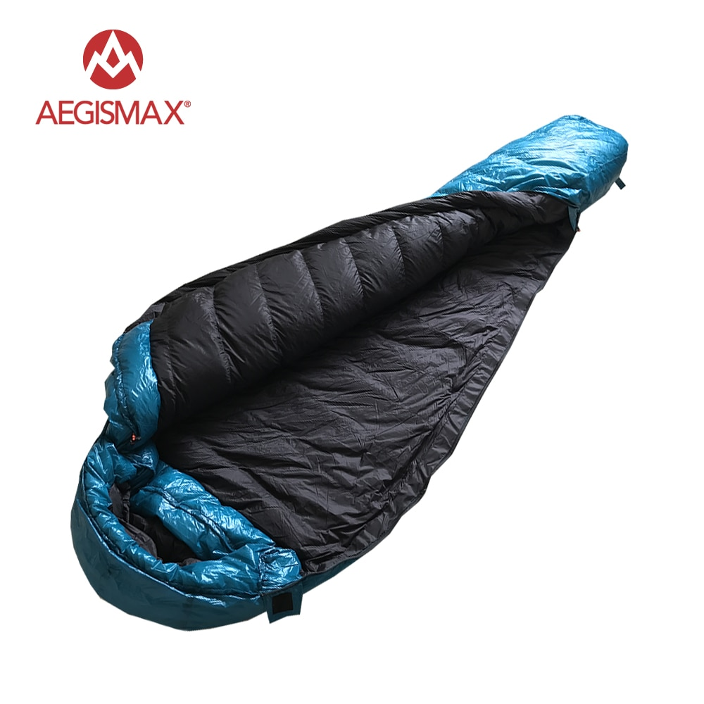 Aigismax M3 Series ultraligero exterior Camping senderismo mantener caliente alargado 95% ganso blanco invierno momia saco de dormir para adultos