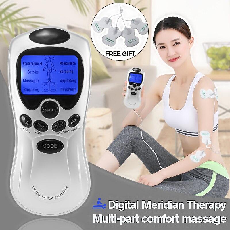 Multifuncional Digital Máquina Chinesa 4 Almofadas Terapia Meridiano De Corpo Inteiro Massager Relaxamento Ferramenta de Cuidados de Saúde Presente