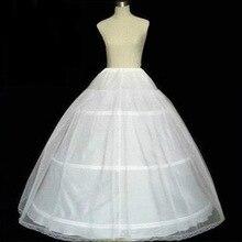 Blanc robe de Bal Jupon pour robe de mariage Moelleux 3 Hoop Jupe Jupon Femme Crinoline Pettycoat