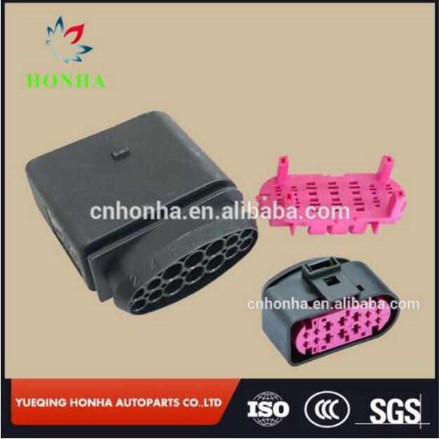 Envío gratis 2/5/10 Uds 1,5mm 3,5mm 14pin auto faros de xenón lámpara-socket hembra conector 1J0 973 837 1J0 973, 737