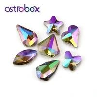 astrobox ghost light glass flatback loose rhinestones glue on clothing fabric decorating nail art stones accessories crafts