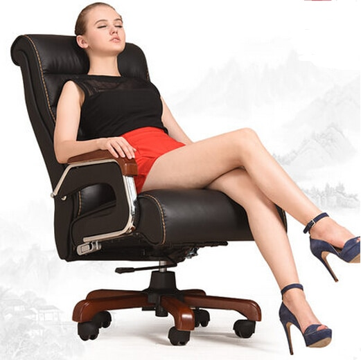 High-grade leather massage chair can recline lift home computer chair swivel office chair massage chair boss real leather boss chair can lie high grade massage computer chair home office chair real wood swivel chair 08