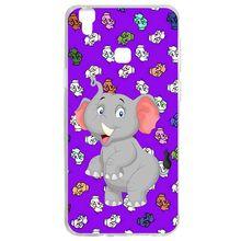 Mutouniao Funny Elephant Silicon Soft TPU Case Cover For Vivo V3 V5 V7 Y53 Y69 Y75 Y79 X9 Y71 V9 X20 X21 NEX A Plus Lite Max