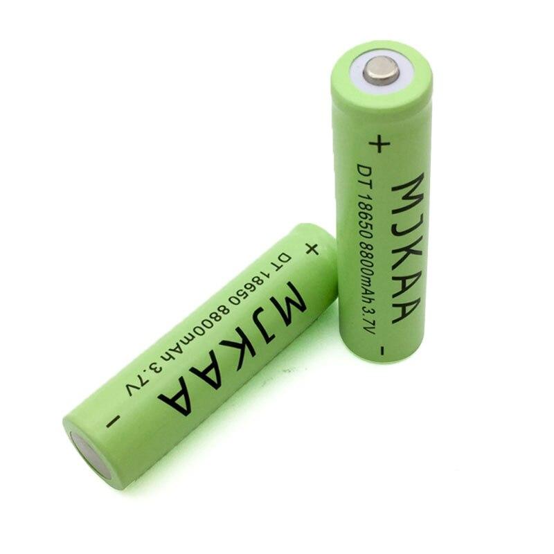 Bateria de Lítio Recarregável com Pcb para Caneta Mjkaa Lote Novo 8800mah 3.7v Li-ion 18650 Bateria Laser Lanterna Tocha 4 Pçs –