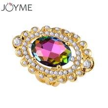 Bagues de fiançailles de mariage en gros de luxe pour les femmes or grand Boho autriche cristal pierre bague femme Anel pas cher bijoux cadeau