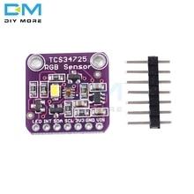 Capteur de couleur numérique rvb filtre IR LED blanc TCS34725 Module pour Arduino UNO R3 bricolage carte électronique analyse des fluides et des gaz