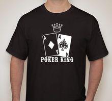 POKER KING AA Pocket Azen t-shirt Texas Hold em Gokken Gaming Print T-Shirt Zomer Stijl Mannen O-hals T-shirt