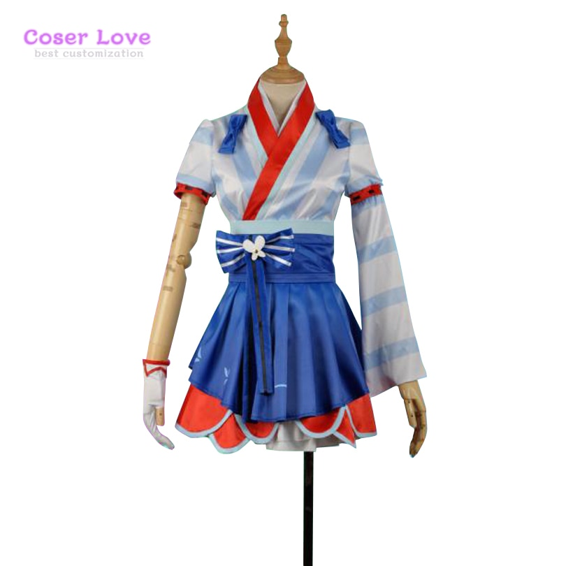 LoveLive Tsushima Yoshiko костюм для косплея Хэллоуин Рождественский Костюм