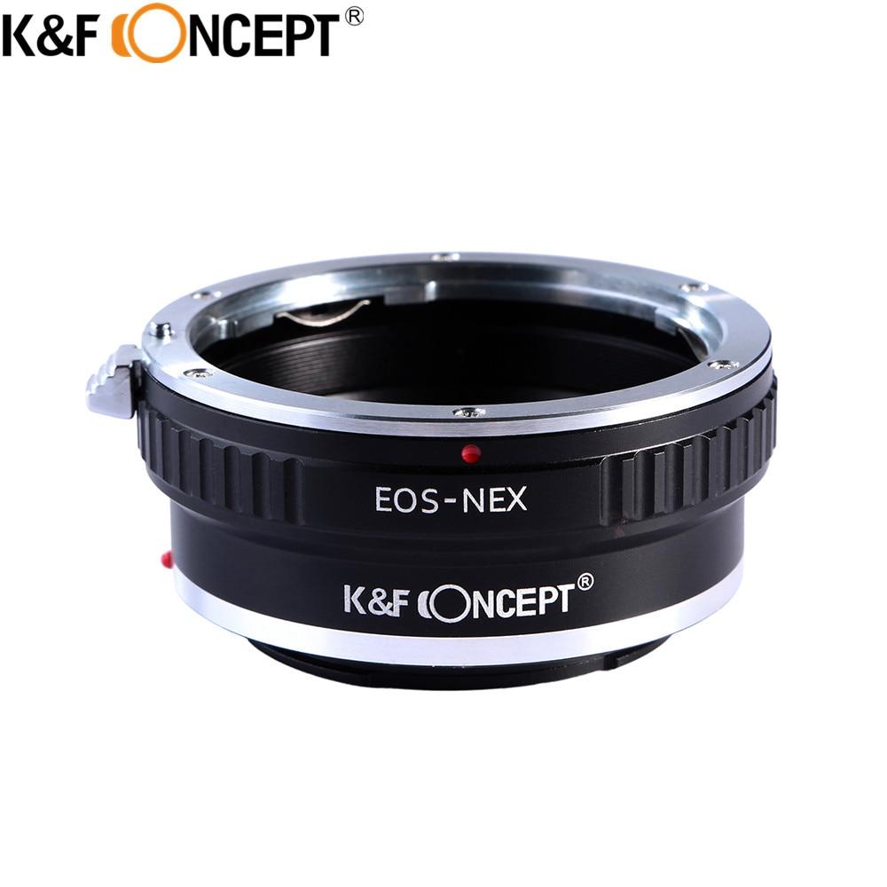 K & F CONCEPT-anillo adaptador para lente de cámara de EOS-NEX, accesorio...