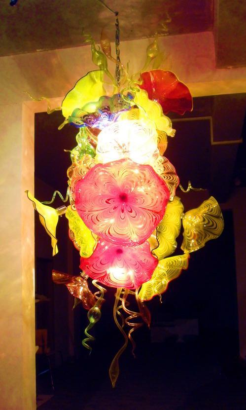 Современная светодиодная люстра в форме цветка, Декор для дома, для гостиной, высокое качество, витражная люстра Tiffany