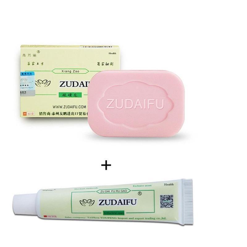 Zudaifu soufre soufre savon réparation de la peau élimination acné Psoriasis séborrhée eczéma Anti-fongique bain shampooing blanchissant