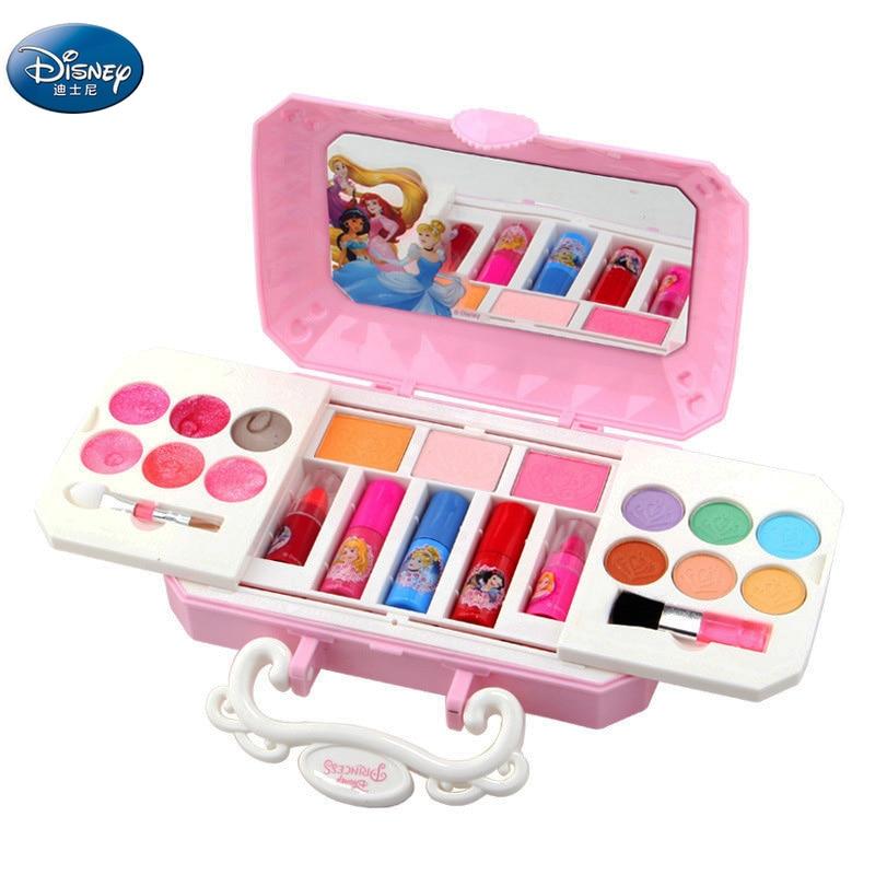 girls  Cartoon Princess Makeup Set Nail polish  lip gloss Fashion Toys Disney frozen Beauty Play baby Christmas present