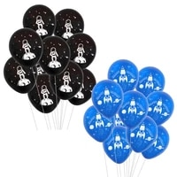 10pcs outer space party astronaut balloons galaxy theme party kids birthday party favors happy birthday balloon helium globals