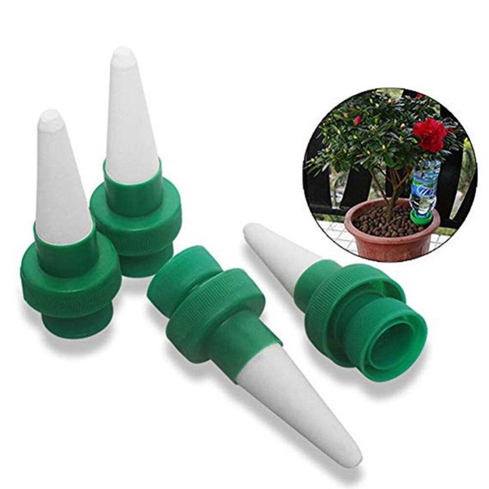 4pcsVacation planta Waterer de espigas de auto riego automático flores de riego por goteo riego juego Sistema de planta de interior