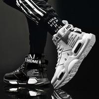Мужские высокие кроссовки, уличная удобная кожаная обувь, повседневные Нескользящие дышащие, модные
