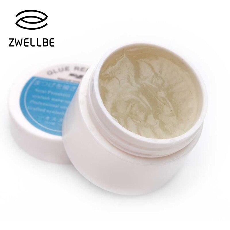 Injerto extensión de pestañas removedor de maquillaje pegamento 5g planta no irritante adhesivo Gel removedor de ojos maquillaje crema