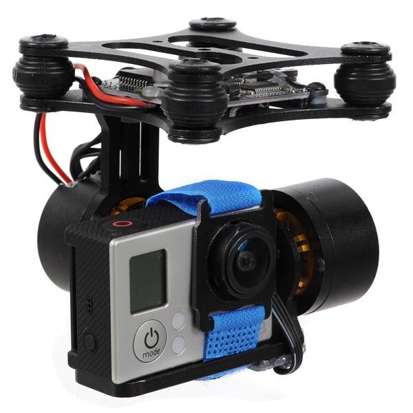 Prix spécial 2 axes sans balais cardan cadre moteur BGC2.0 contrôleur pour Gopro 2 3 4 SJ4000 caméra FPV RTF bricolage Drone