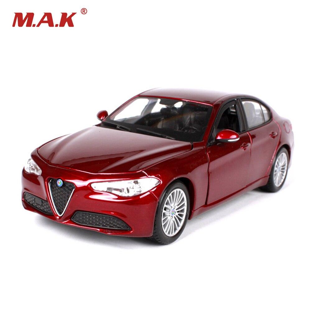 124 2016 Alfa Romeo Giulio diecast coche modelos brinquedos niños juguetes regalo para niños chicos