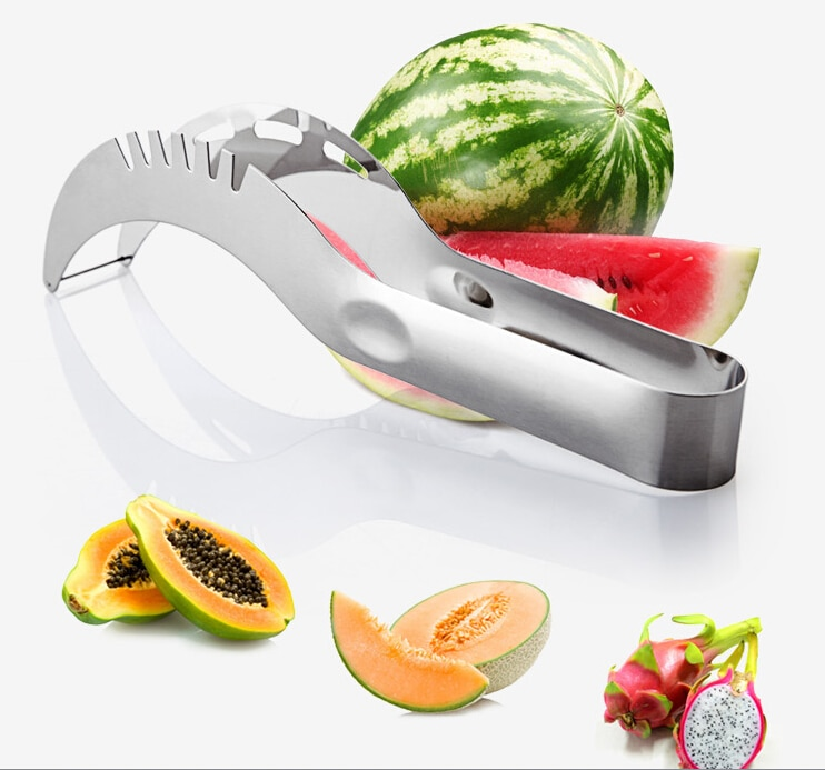 Caliente acero inoxidable-lavavajillas seguro divisor afilado sandía rebanadora Corer Acero inoxidable fruta pelador casa cocina herramienta
