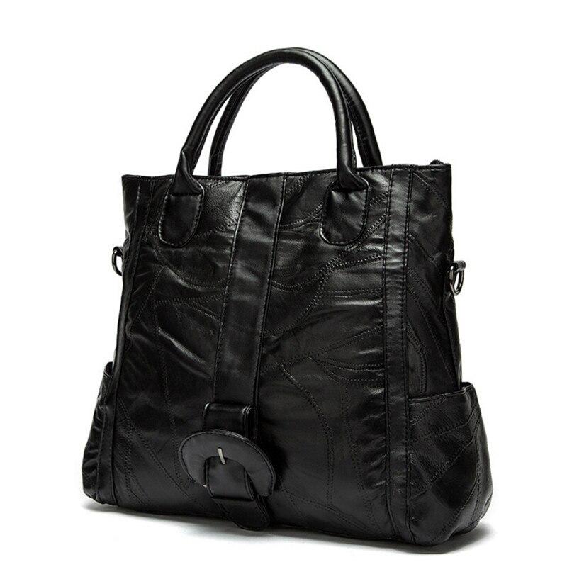 حقيبة يد نسائية من الجلد الطبيعي ، حقيبة كتف من جلد الغنم الطبيعي ، 2017