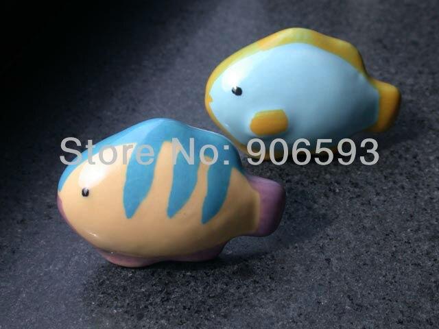 24pcs lot free shipping oceanic fish shape ceramic drawer knobs