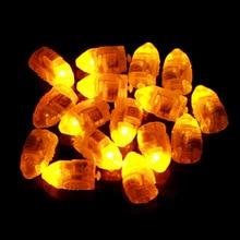 100pcs/lot Mini Yellow LED Balloon Lamp LED Ball Floral Light for Paper Lantern Party Decoration Light Christmas