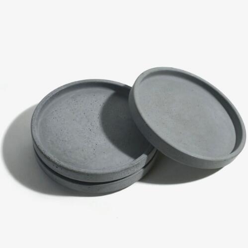 Plato de cemento de forma redonda, moldes de silicona, platos de frutas, plato de cemento hecho a mano, molde de placa de Diseño Artesanal