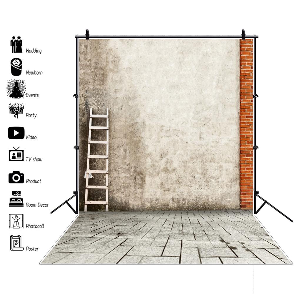 Laeacco старый цемента стены лестницы кирпичный пол праздник портрет сельский дом фотографии Фоны фото фонов Studio