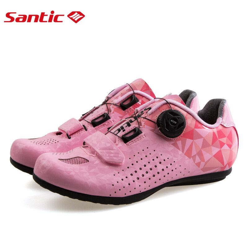 Santic-nuevos zapatos de ciclismo de carretera, transpirables sin bloqueo para todo terreno para mujer, calzado de ocio para bicicleta de montaña 36-39