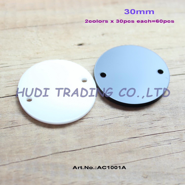 16mm/20mm/25mm/30mm 2 Buracos Círculo Vermelho Acrílico discos disco tags Eco laser Artesanato Earrings-AC1001