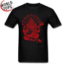 Hindustan Ganesh guitare électrique T-Shirt rouge impression 3D été automne 100% coton T-Shirt anniversaire sweats hommes adultes t-shirts