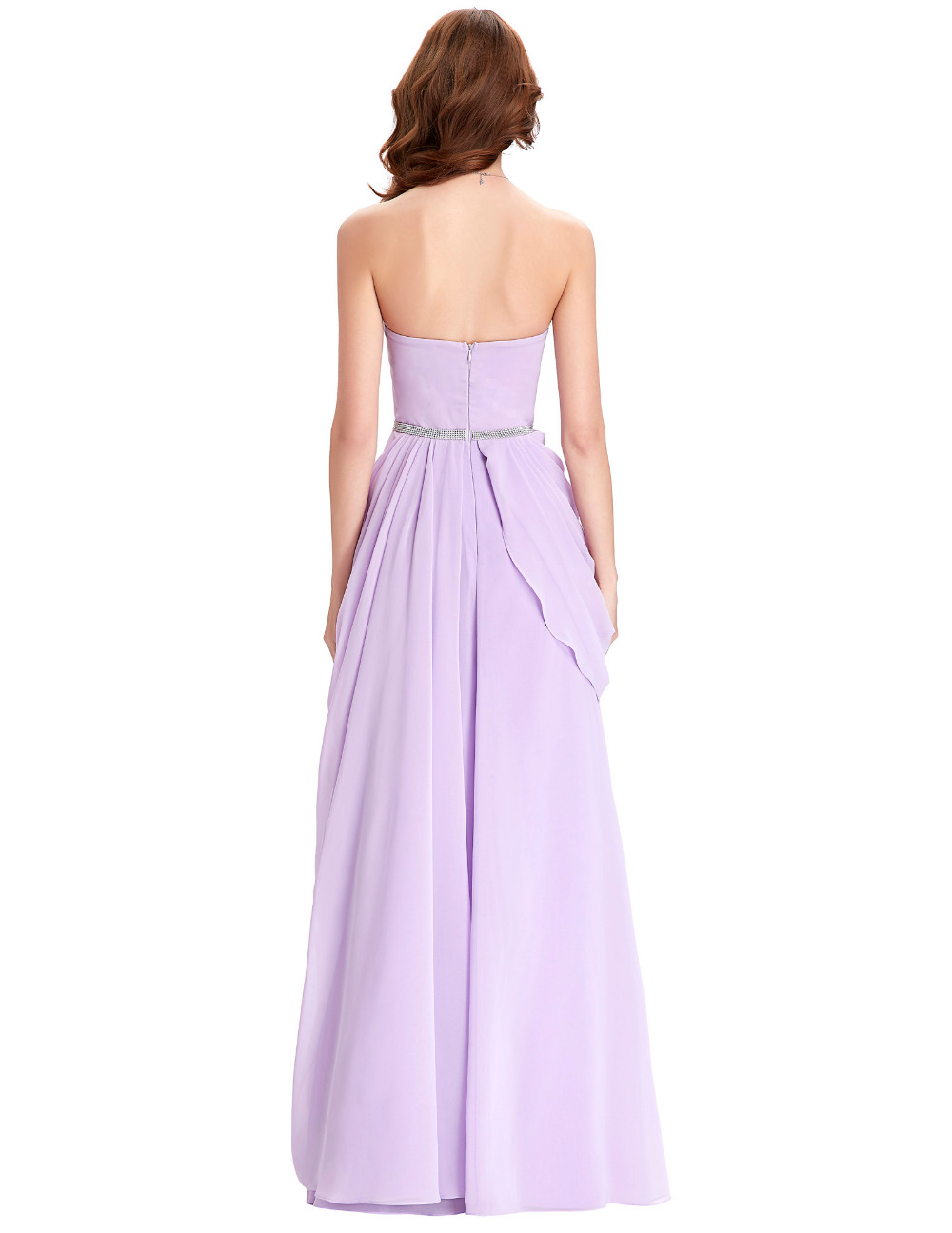 Purple Lavender Long Chiffon Floor Length Bridesmaid Dress 8