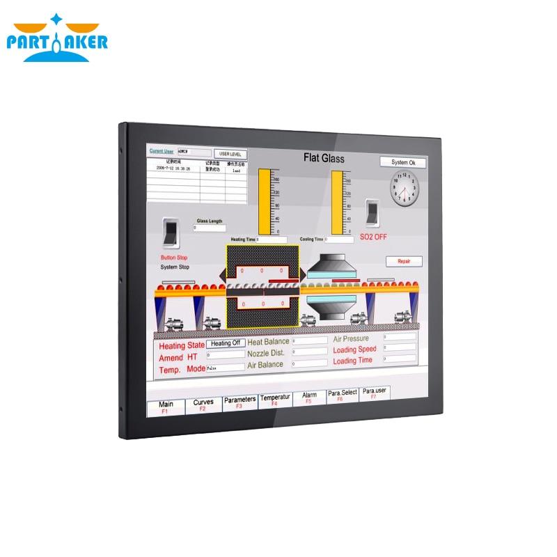 19 Inch LED Industrial Panel PC Taiwan 5 Wire Touch Screen,Win 10/Linux Ubuntu Intel Quad Core J1900 Partaker Z16 4G RAM 64G SSD