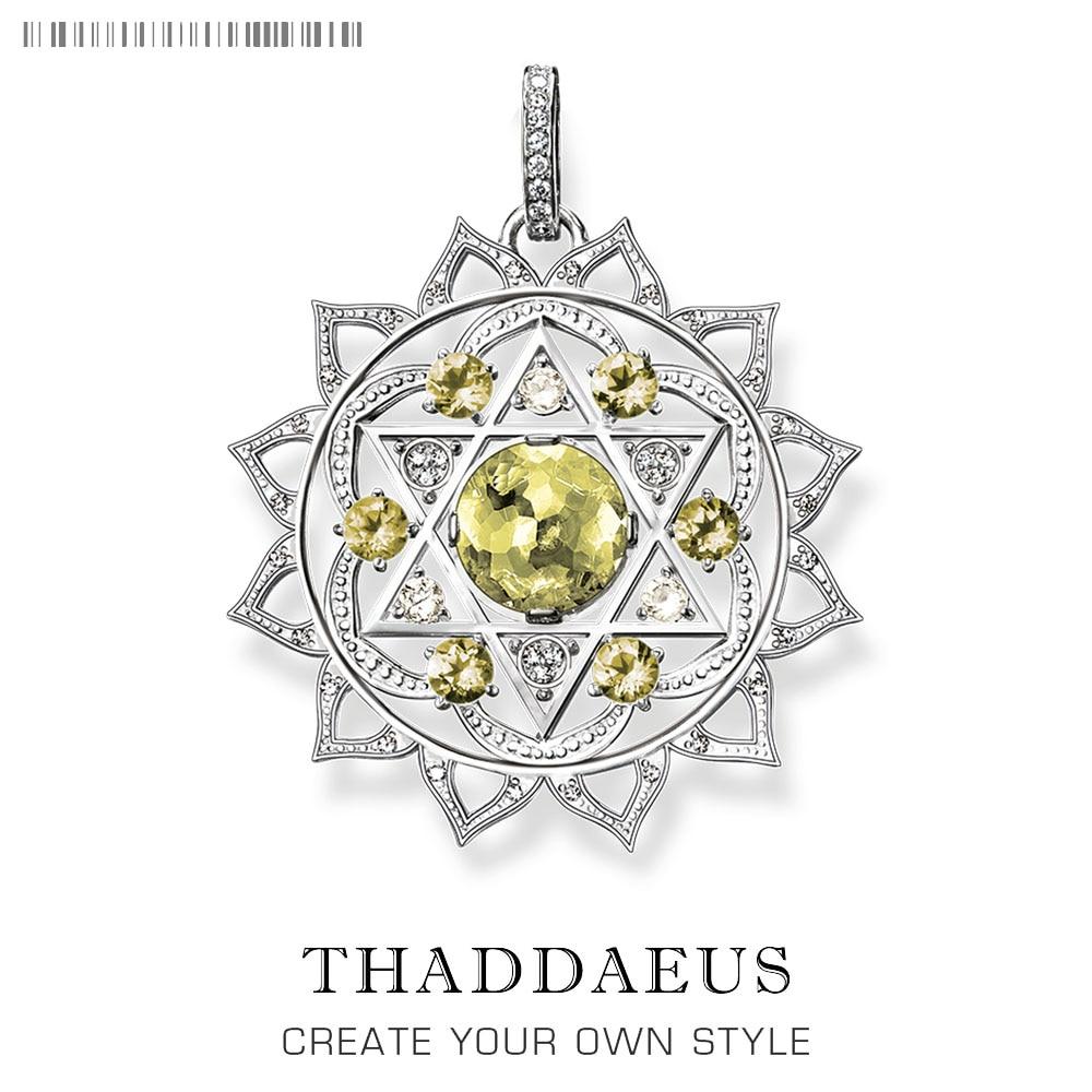 Wisiorek serce CHAKRA Ornament,2019 Brand New Fashion Glam 925 srebro biżuteria Thomas Bijoux naszyjnik prezent dla Ts kobieta