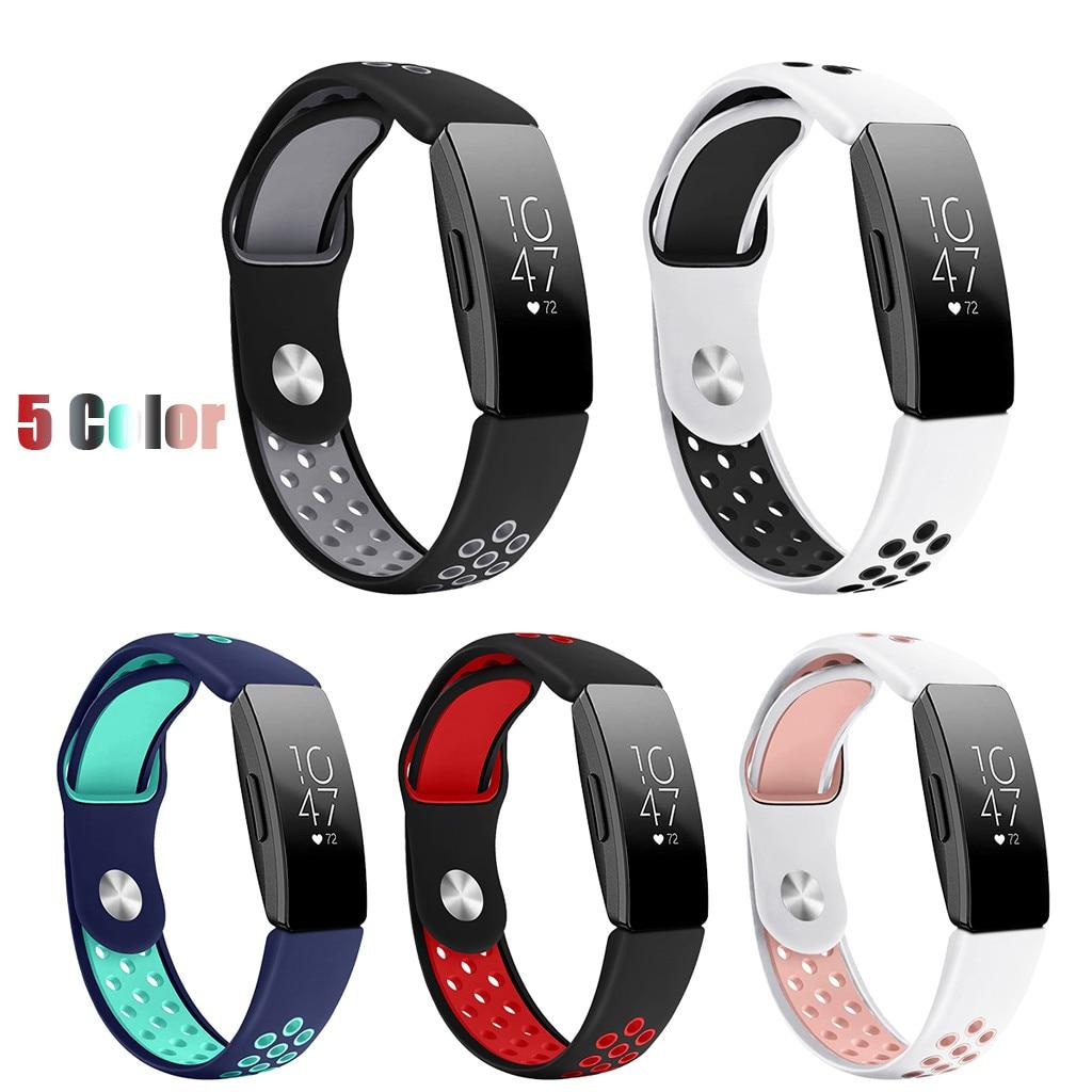 Smarwatch Novo Dos Esportes Da Forma de Silicone Pulseira Banda Cinta Para Fitbit Inspirar/Inspire HR samrt relógio #40