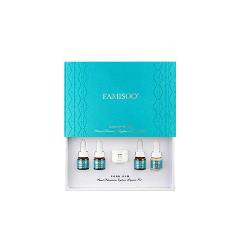 FAMISOO 1 set Exquisite Augenbraue Pigment mit Pflege Creme Permanent Augenbrauen Munsu Make-Up 3D Manuelle Make-Up Manuelle Pen