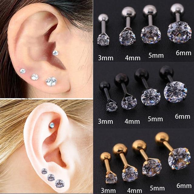 Starbeauty Concha De Cartilagem 1 2 6 3 4 5 6mm Redondo Zircônio Haste De Cartilagem Brinco Tragus Hélix Piercing Do Ouvido Superior Joias Do Corpo Helix Ear Body Jewelryear Piercing Aliexpress
