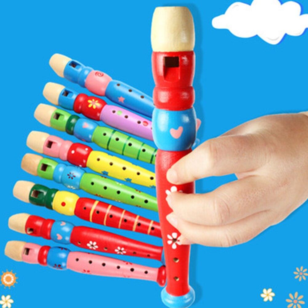 6-loch Holz Kind Flöte Musical Instrument Frühen Bildung Entwickeln Recorder Bläser Musik Pädagogisches Spielzeug für Kinder # H