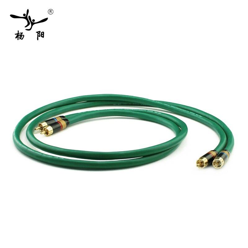 YYAUDIO 2328 Hifi посеребренный 2RCA кабель высокого качества 6N OFC HIFI RCA мужской аудио кабель