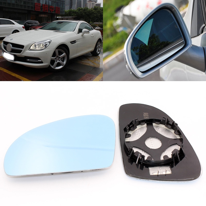 Боковое зеркало для Mercedes Benz SLK 200 350 2000-2015, синее стекло с подогревом, 1 пара